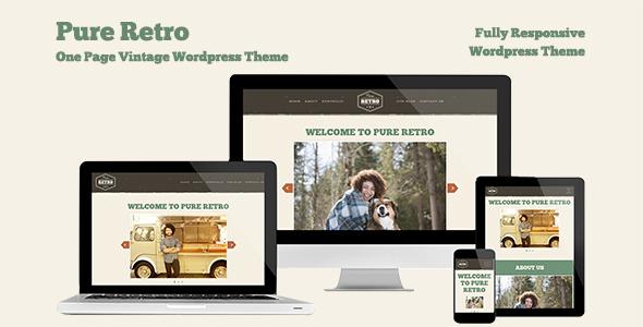 "Retro Portfolio-  ""Pure"" - One Page Vintage WordPress Theme"