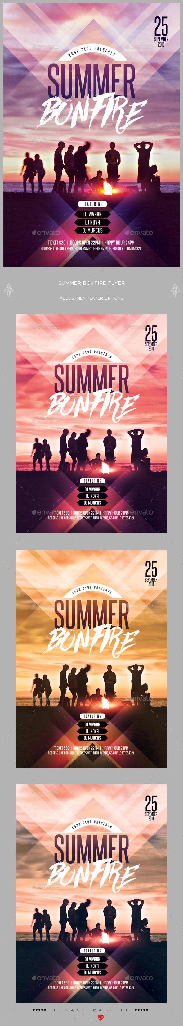 Summer Bonfire Flyer