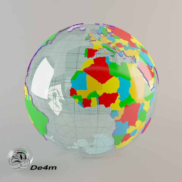 World Globe (political) - 3DOcean Item for Sale