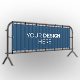 Barrier Fence Banner Mockup Set