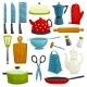 Kitchen Utensils And Kitchenware Icons