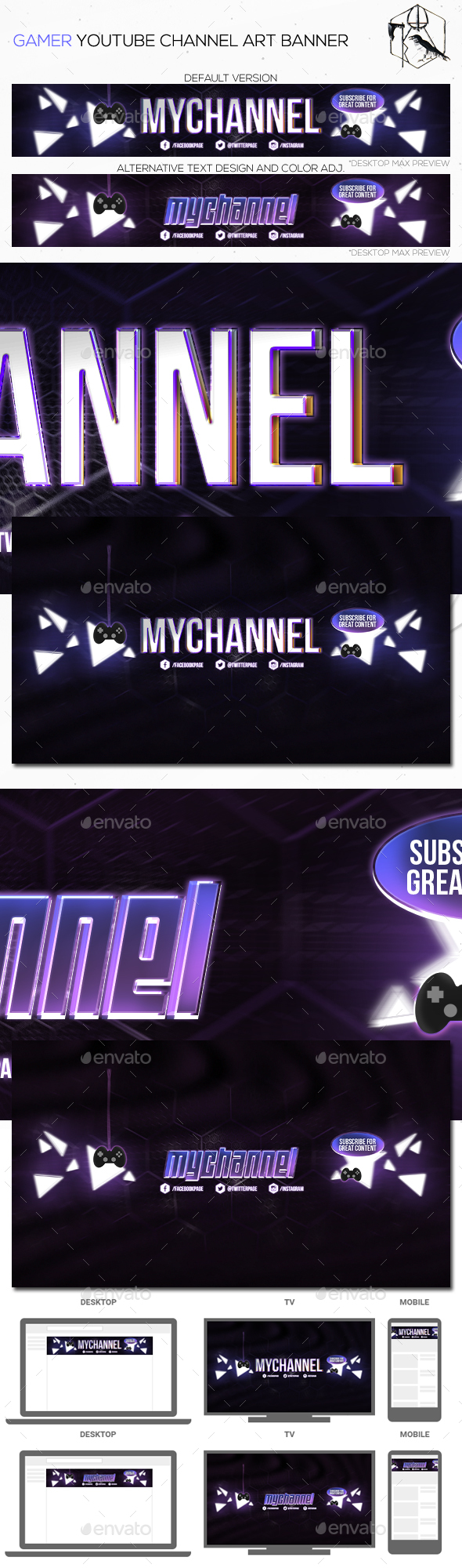 youtube channel art graphics designs templates