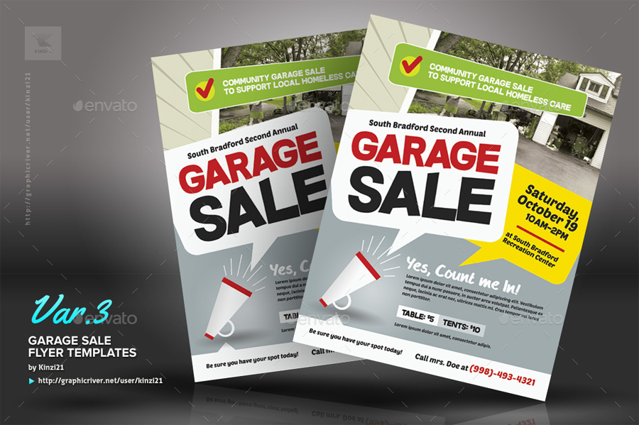 Garage Sale Flyer Templates by kinzi21 – Sales Flyer Template