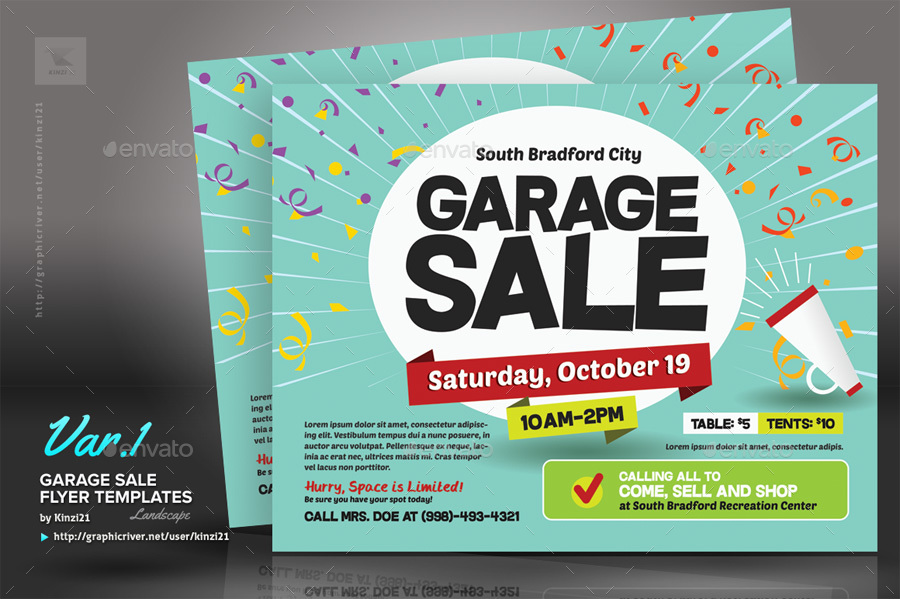 Garage Sale Flyer Templates by kinzi21 – Sale Flyer Design