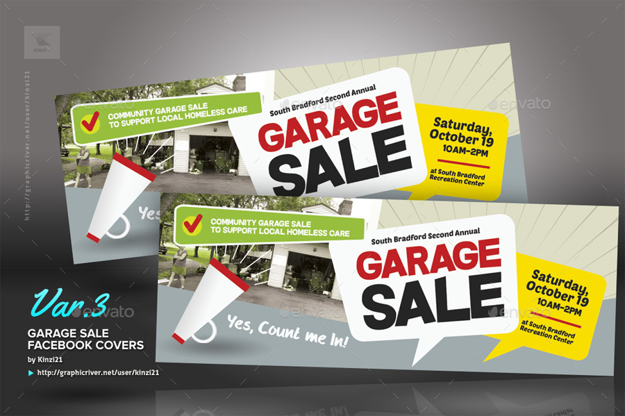 Garage Sale Flyer Templates by kinzi21 – Yard Sale Flyer Template