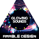 Glowing Sounds Flyer/Poster