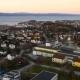Aerial View Over Central Trondheim, Norway, Establishing Shot 4