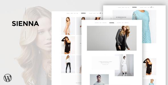 Фото Профессиональный шаблон Wordpress  Sienna - Fashion WooCommerce WordPress Theme — cover.  large preview