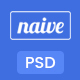 Naive - App Landing PSD Template