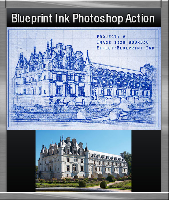 Ink Blueprint Photoshop Action