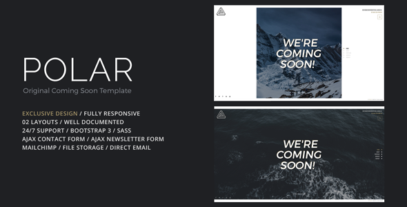 POLAR - Original Coming Soon Template