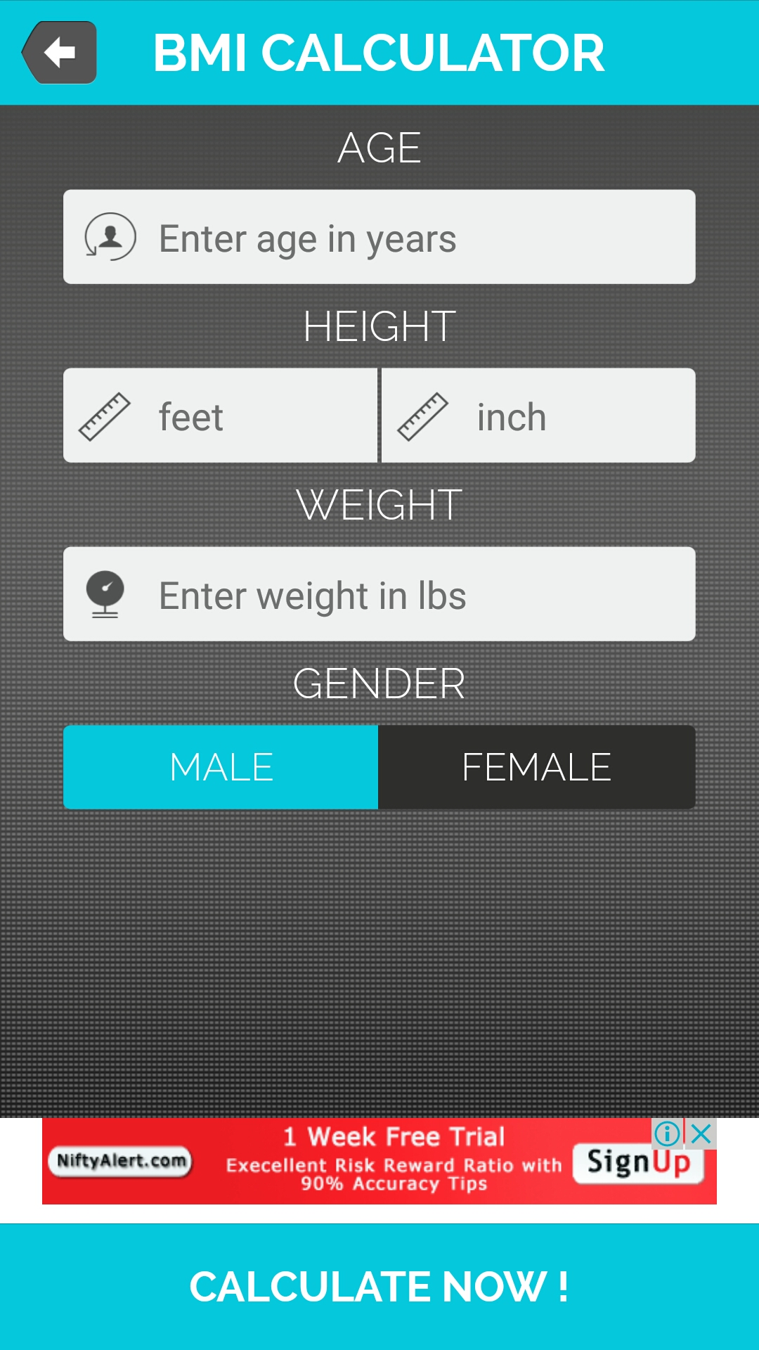 Bmi Calculator For Android Full Application With Psd By How To Calculate Bmi  Graph Solution For