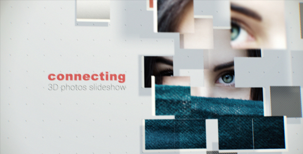 Connecting 3D Photos Slideshow -Videohive中文最全的AE After Effects素材分享平台
