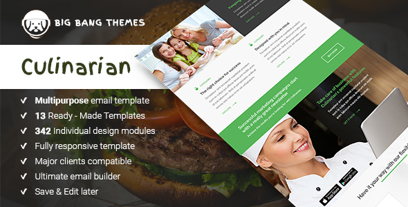 Download Culinarian - Multipurpose Restaurant Email + Builder Access  nulled download