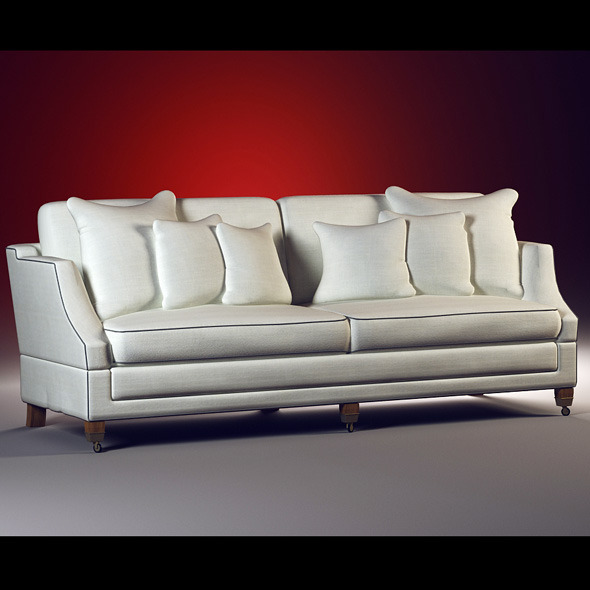 High quality model of classic sofa Hornblowerl - 3DOcean Item for Sale