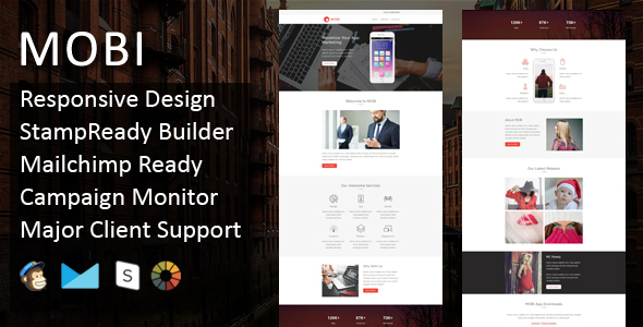 MOBI - Multipurpose Responsive Email Template + Stampready Builder