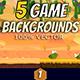 5 Desert Game Backgrounds