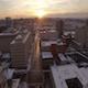Aerial Snow Nashville Road