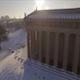 Aerial Snow Nashville Parthenon Sunrise