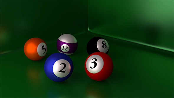PoolBalls Blender Cycles - 3DOcean Item for Sale