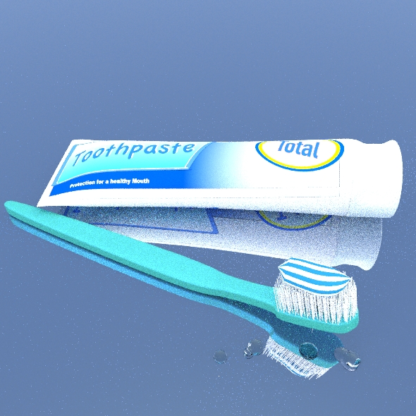 Toothpaste with Brush. - 3DOcean Item for Sale