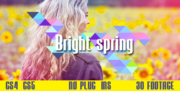 After Effects Project - VideoHive Bright spring 1721598