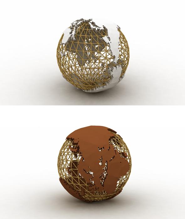 Metal World Ware 3d Model - 3DOcean Item for Sale