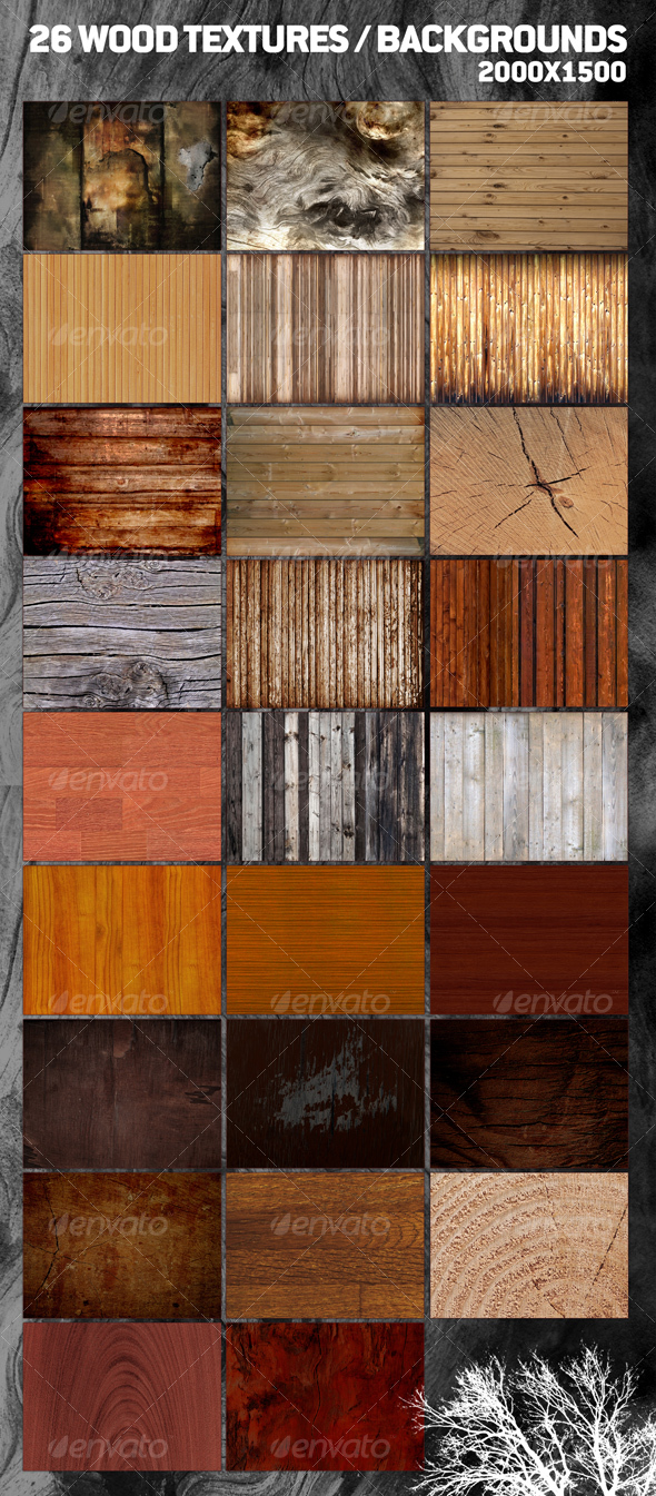 GraphicRiver 26 Cool Wood Textures Backgrounds 67112