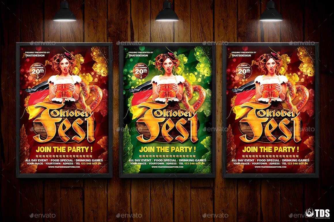 Oktoberfest Flyer Template V5 by lou606 | GraphicRiver