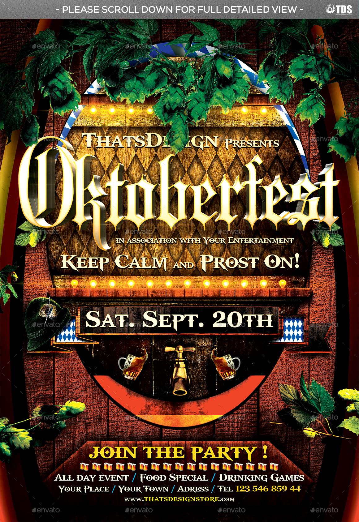 Oktoberfest Flyer Template V6 by lou606 | GraphicRiver