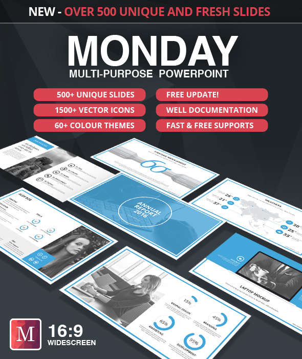 Monday PowerPoint Template (PowerPoint Templates)