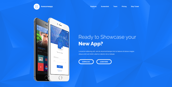 Blu - Bootstrap Minimal App Landing Page HTML
