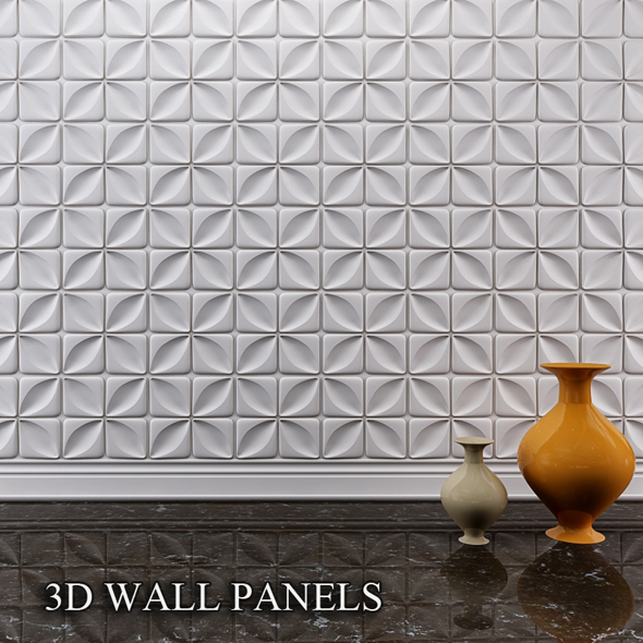 3D wall panels - 3DOcean Item for Sale