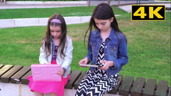 Download Two Sisters Playing In Yard On Tablets nulled download