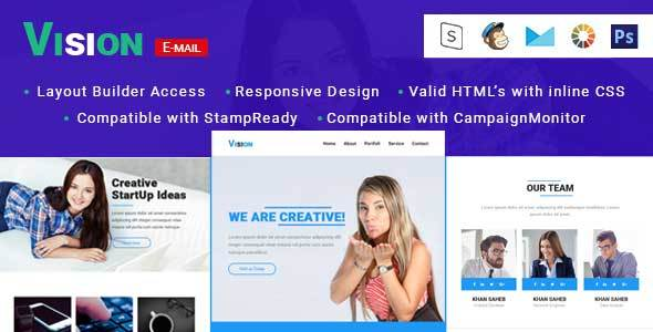 Download Vision-Multipurpose Responsive Email Template with Stampready builder nulled download