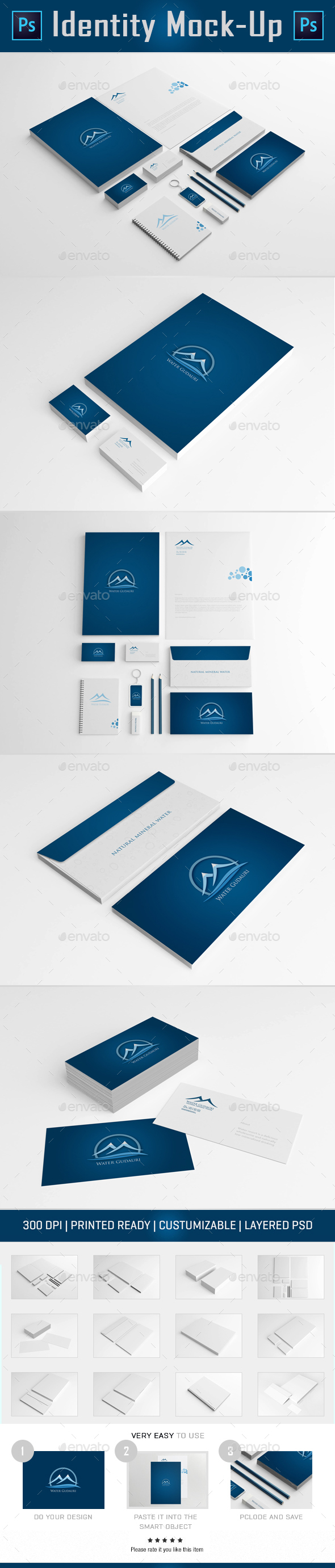 Branding Identity Mock Up II (Stationery)