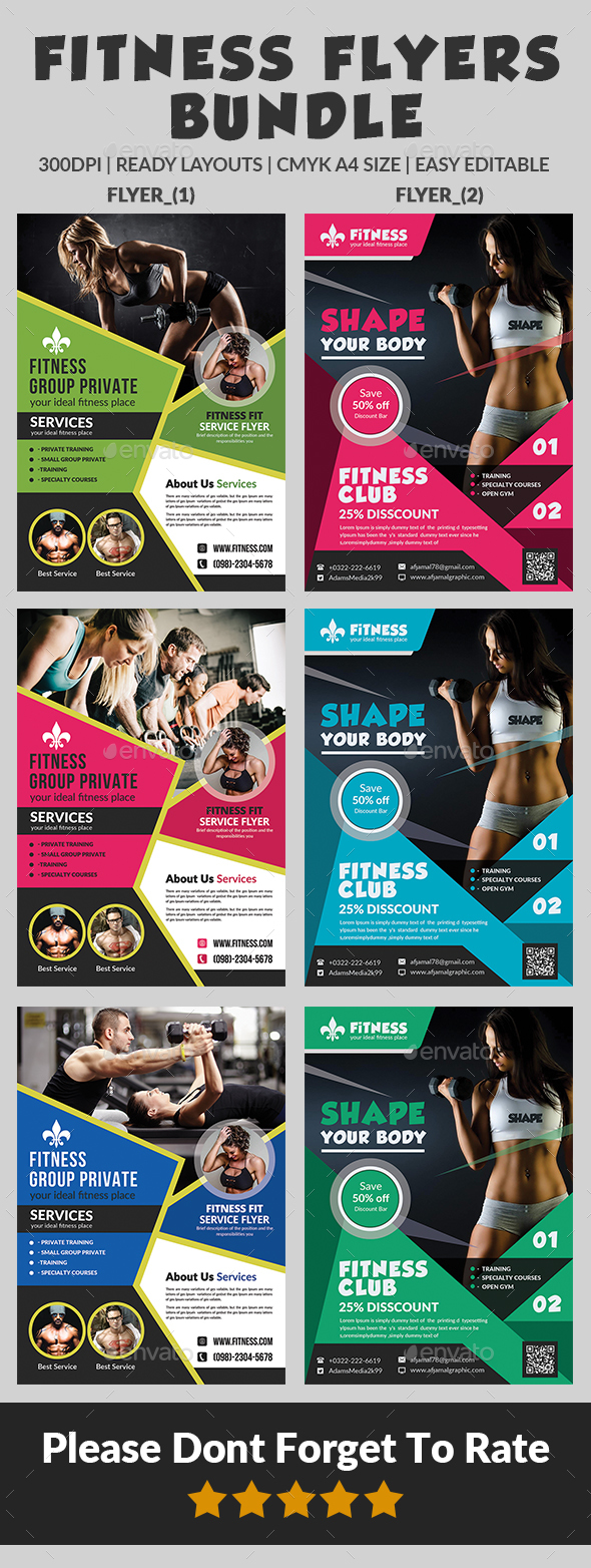 Fitness Flyers Bundle
