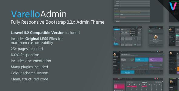 Varello Admin | Responsive Dark Bootstrap Admin Template + Laravel Starter Kit