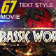 67 Movie Text Style Bundle