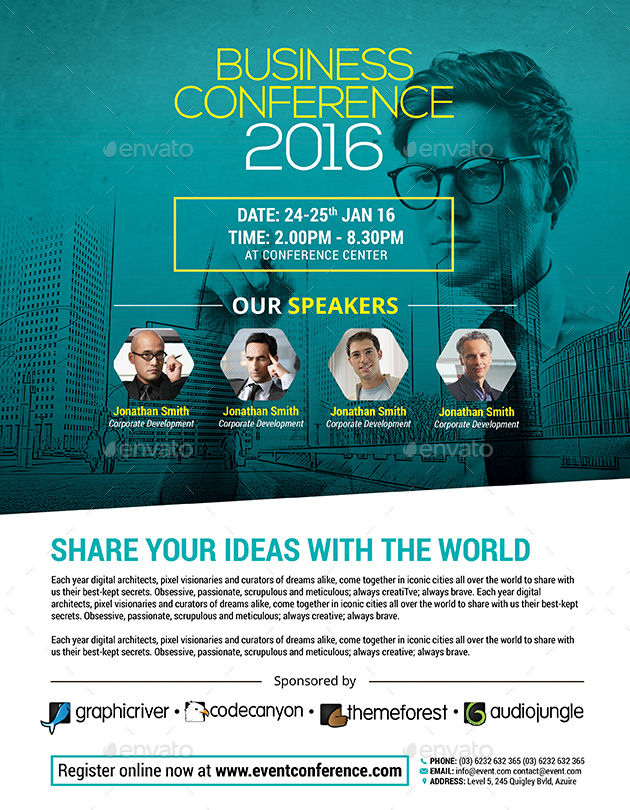 business conference flyer by inddesigner