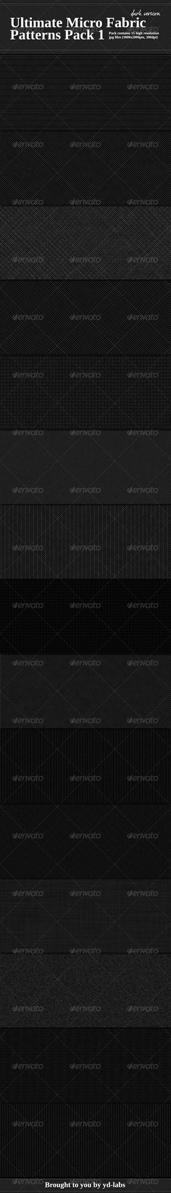 GraphicRiver Ultimate Micro Fabric Patterns Pack 1 1722535