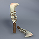 Low Poly Jaw Bone Knife - Maya, mb, OBJ, FBX + Textures