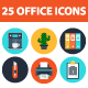25 Office elements icons