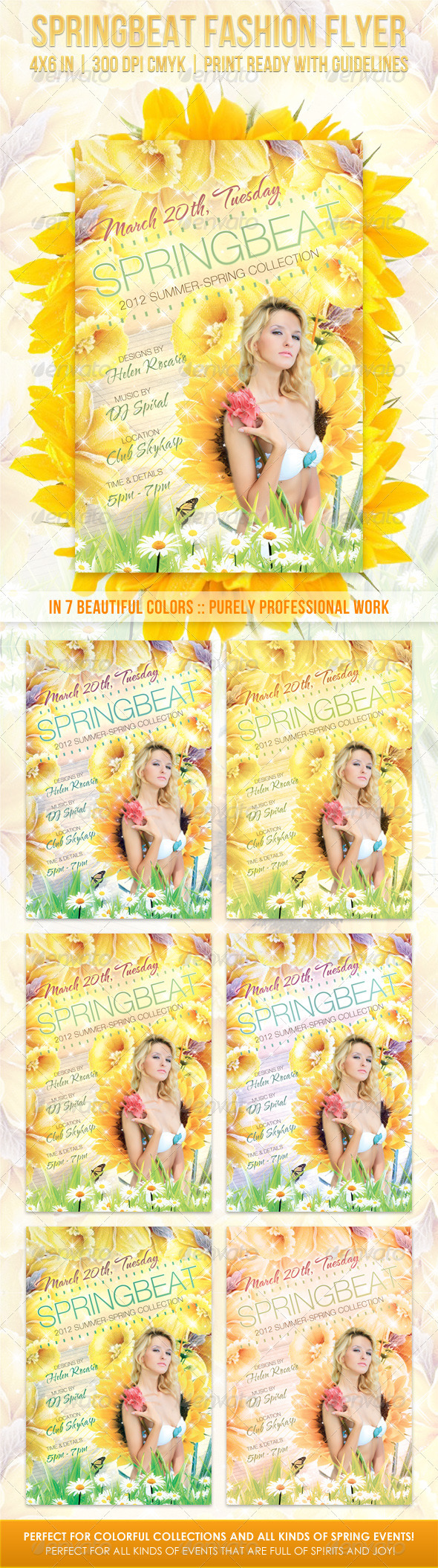Springbeat Spring Fashion Flyer - Flyers Print Templates