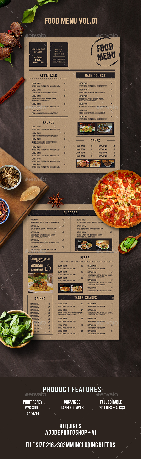 Flyer Menu Templates from GraphicRiver (Page 36)