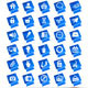 Blue Theme Web Icon Vector Mega Pack - GraphicRiver Item for Sale