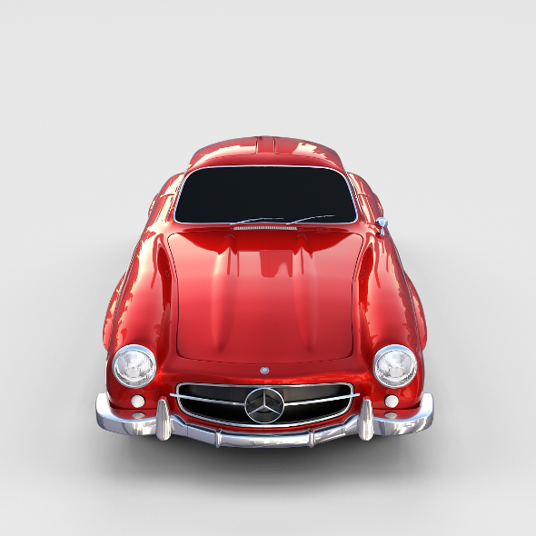 Rigged Mercedes 300SL W198 rev - 3DOcean Item for Sale