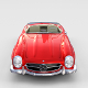 Fully Modelled Mercedes 300SL Roadster Red rev