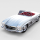 Fully Modelled Mercedes 300SL Roadster rev