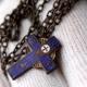 Small Blue Christian Cross